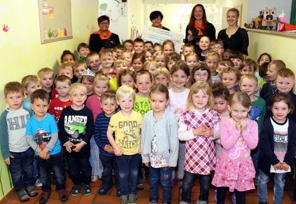 Spendenübergabe, Kindergarten, Weismain