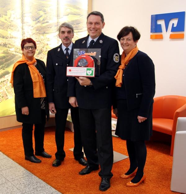 Defibrillator, FFW Großziegenfeld, Raiffeisenbank Obermain Nord