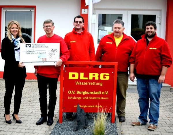 Spendenübergabe, DLRG, Burgkunstadt
