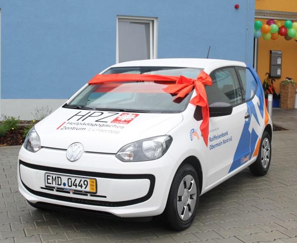 Der neue VW up! im VRmobil-Design