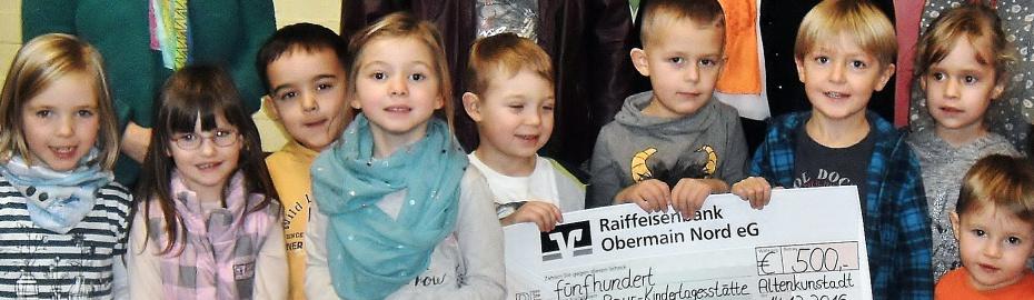 Kreuzberg-Kita, Kathi-Baur-Kindertagesstätte, Raiffeisenbank Obermain Nord