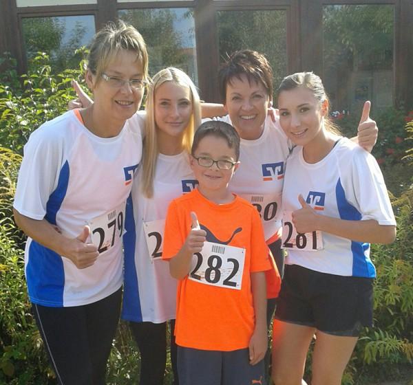 Das Läuferteam der Raiffeisenbank Obermain