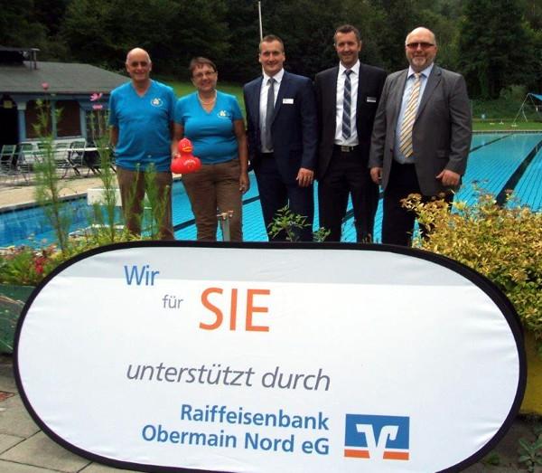 v.l.: Dr. Axel Witthauer und Ruth Tölg, Steffen Matuschek, Steffen Löffler, Bürgermeister Egon Herrmann