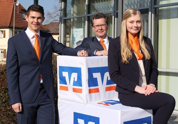 Ausbildungsende, Christoph Ramming, Ramona Grober, Raiffeisenbank Obermain Nord eG