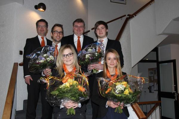 Wir gratulieren unseren 4 jungen Bankern zur bestandenen Abschlussprüfung