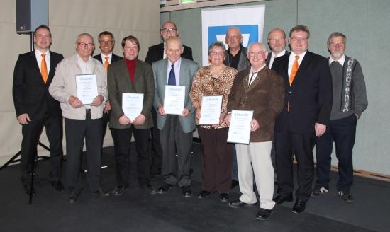 Mitgliederehrungen in der Leßbachtalhalle in Weißenbrunn