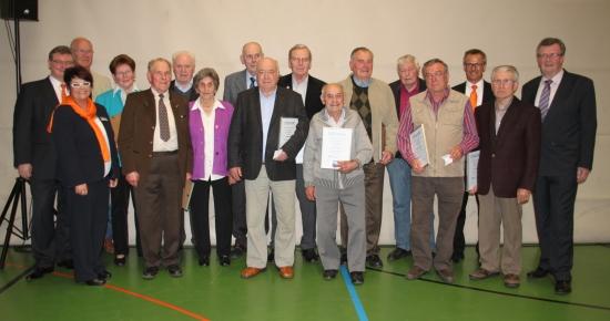 Mitgliederehrungen in der Kordigasthalle Altenkunstadt