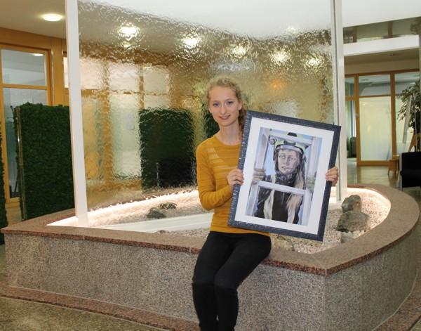 Unser Foto zeigt Linda Wagner mit ihrem Siegerbild