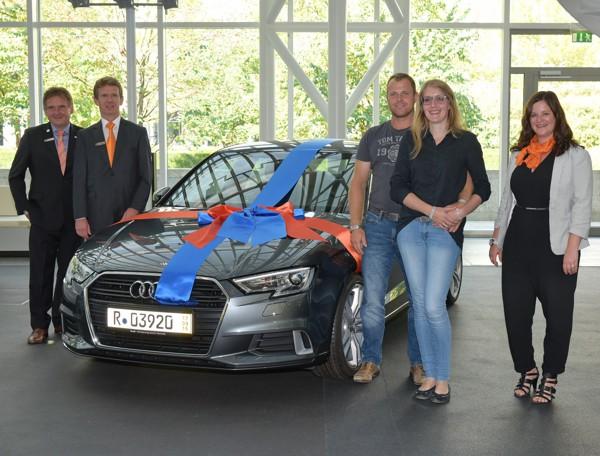 Gewinnsparen, Gewinner, Audi A3, Raiffeisenbank Obermain Nord