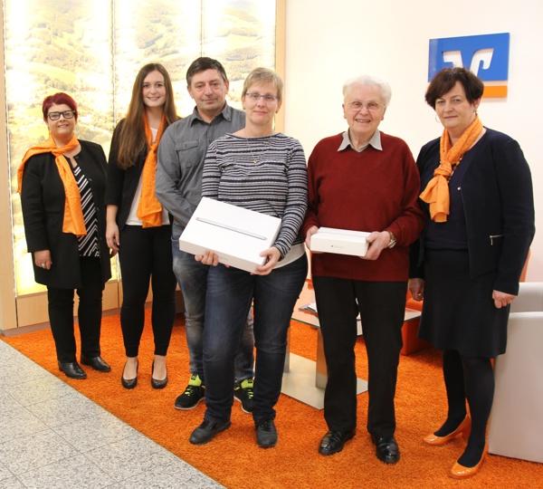 Gewinner, MacBook, iPad, Raiffeisenbank Obermain Nord