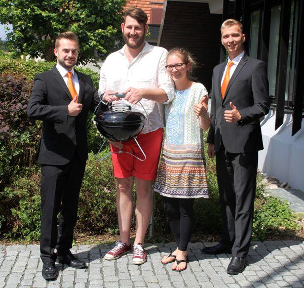 Unsere Gewinner aus Burgkunstadt zusammen mit Andreas Will und Alexander Hofmann