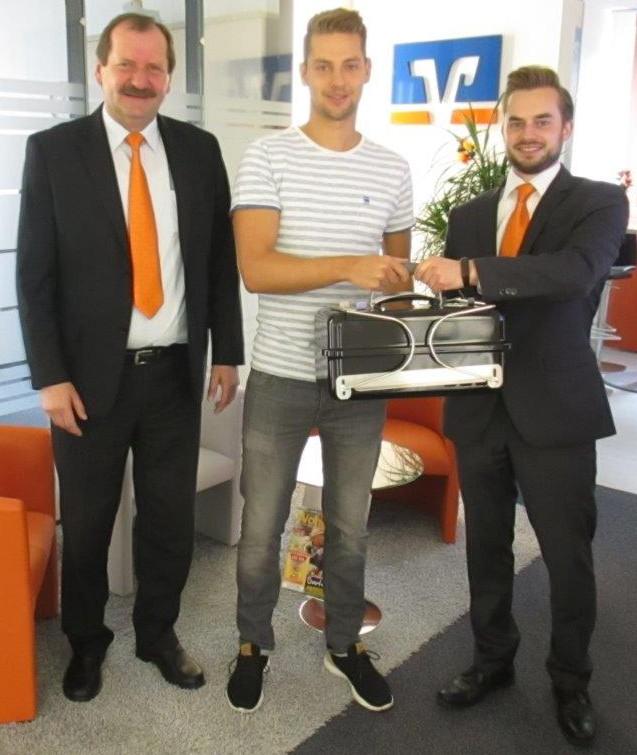Unser Gewinner aus Marktzeuln zusammen mit Manfred Hühnlein und Andreas Will
