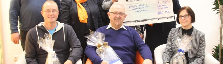 Raiffeisenbank Obermain Nord eG, Gewinner Gewinnspiel