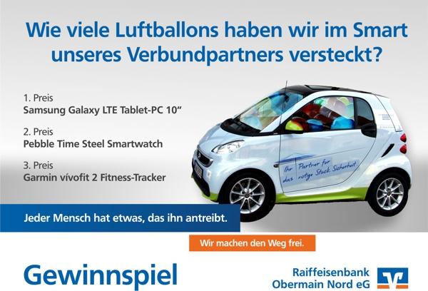 Rückblick der Aktion, Gewinnspiel, Raiffeisenbank Obermain Nord eG