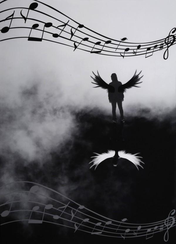 """Platz 2 - Gewinner: Jannis T. (Gymnasium Burgkunstadt) Titel: """"Fallen Angel (Liedtitel)"""""""