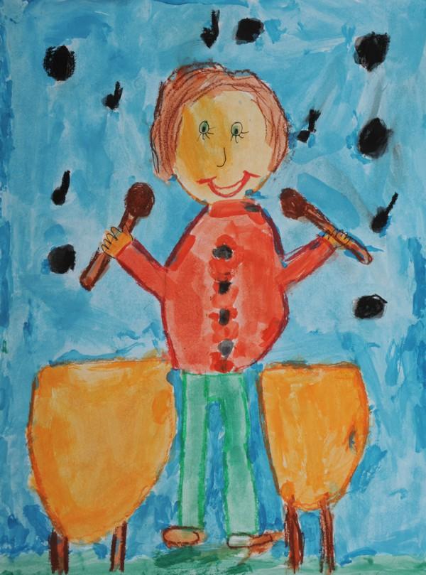 """Platz 2 - Gewinner: Ole R. (Grundschule Leuchsental) Titel: """"Der Trommler"""""""