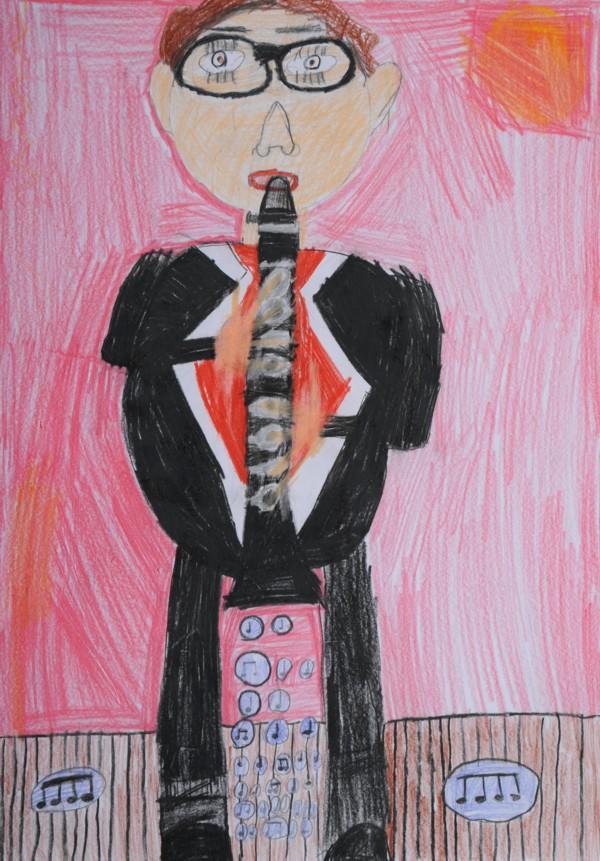 """Platz 2 - Gewinner: Malte H. (Pater-Lunkenbein-Schule Ebensfeld) Titel: """"Spielender Malte"""""""
