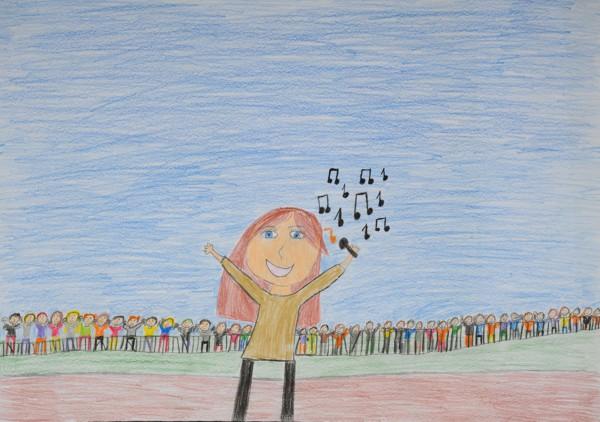"""Lisa-Marie L. (Schule der Lebenshilfe) Titel: """"Mädchenkonzert"""""""