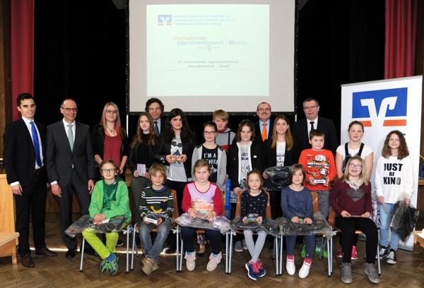 Preisverleihung der Landkreissieger, Internationaler Jugendwettbewerb, Raiffeisenbank Obermain Nord eG