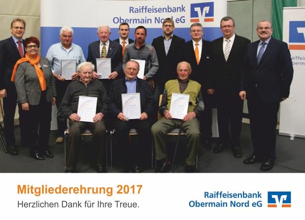 Mitgliederehrung in Weißenbrunn