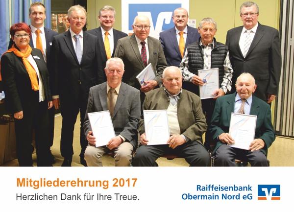 Mitgliederehrung in Schwarzach