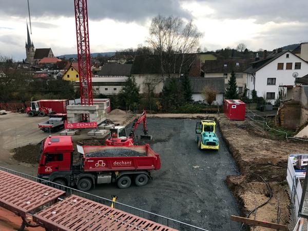 Vorbereitung der Baufläche (KW 48/49 - 2017)