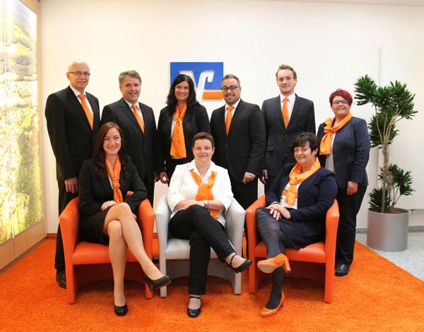 Mitarbeiter des KompetenzZentrums Weismain, Raiffeisenbank Obermain Nord eG