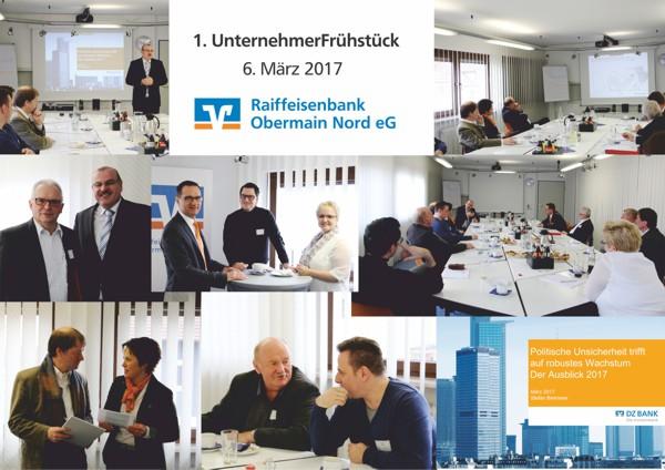 Unternehmerfrühstück, Raiffeisenbank Obermain Nord eG